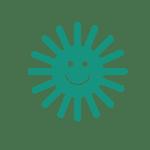 Smiling sun icon